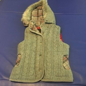 Grey And Plaid Inside Silk Vest